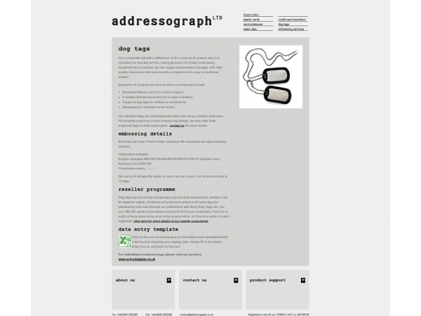addressograph webapp gloucestershire