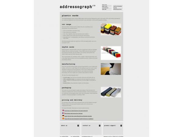 addressograph webapp listing gloucestershire