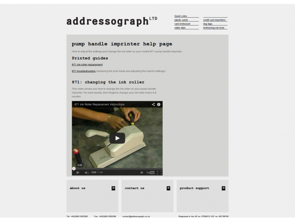 addressograph website product gloucestershire