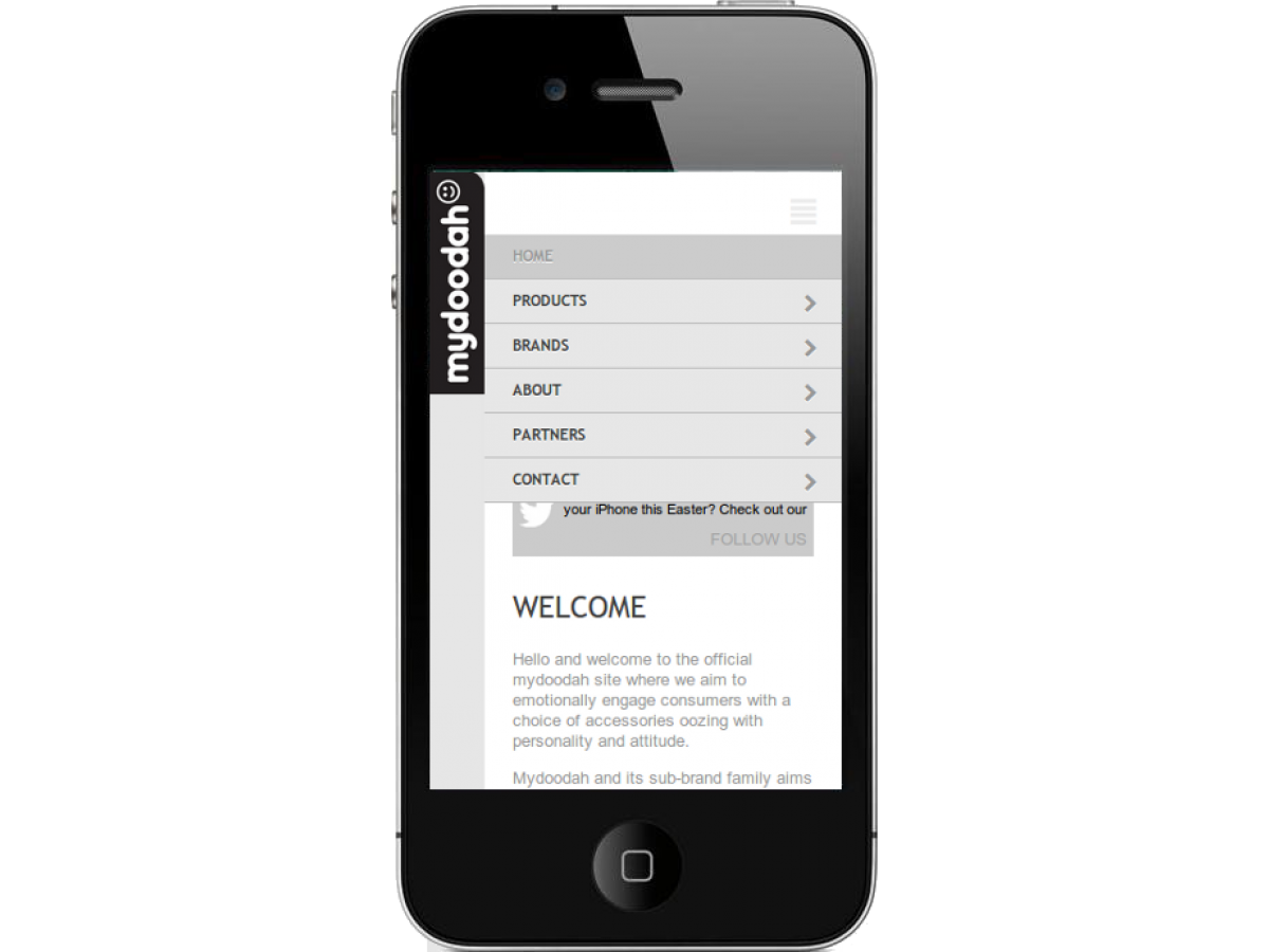mydoodah mobile website menu cheltenham