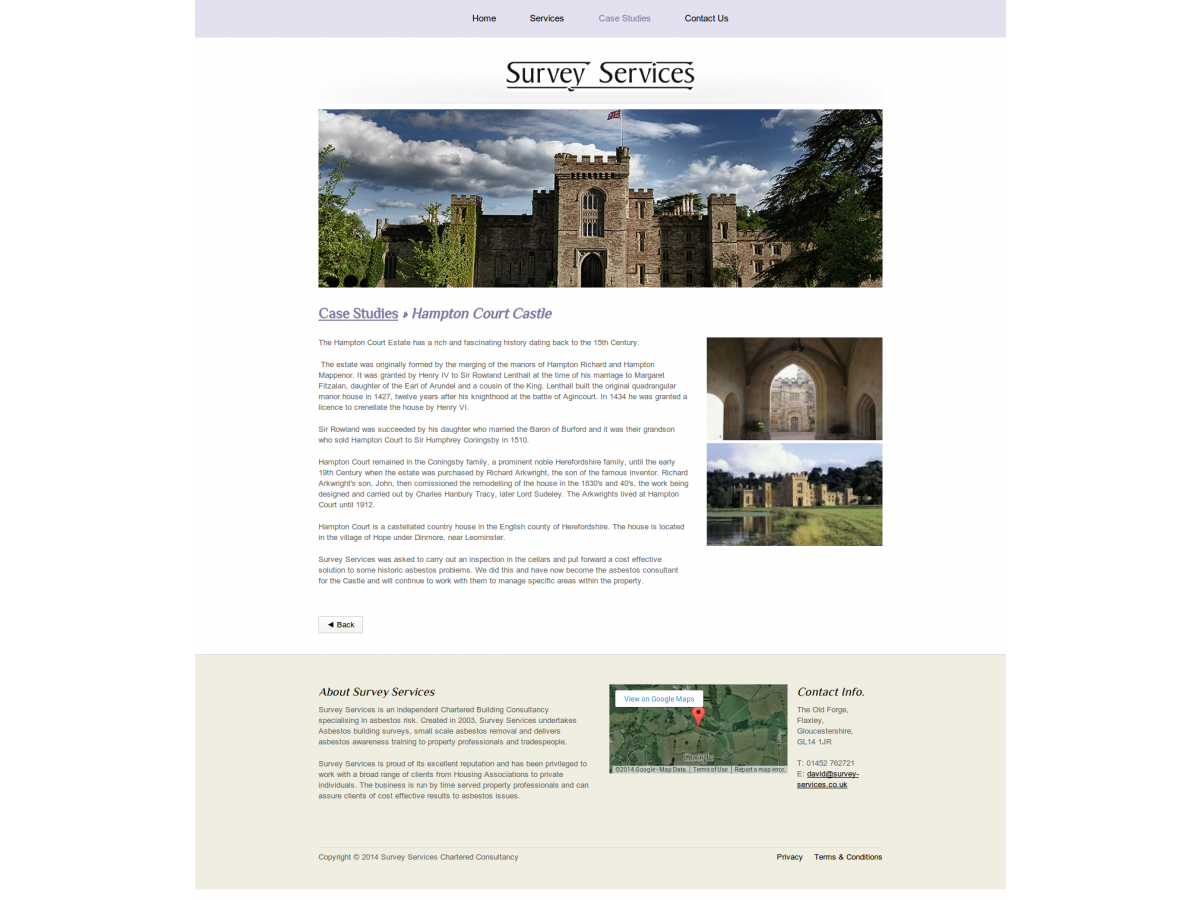survey services website case studies articles gloucestershire