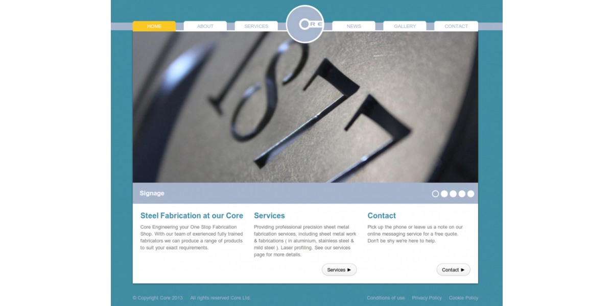core engineering website home cardiff
