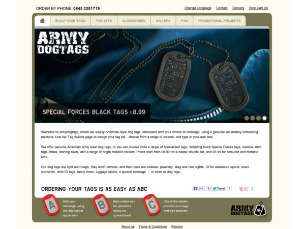 army dog tags website homepage carousel gloucestershire
