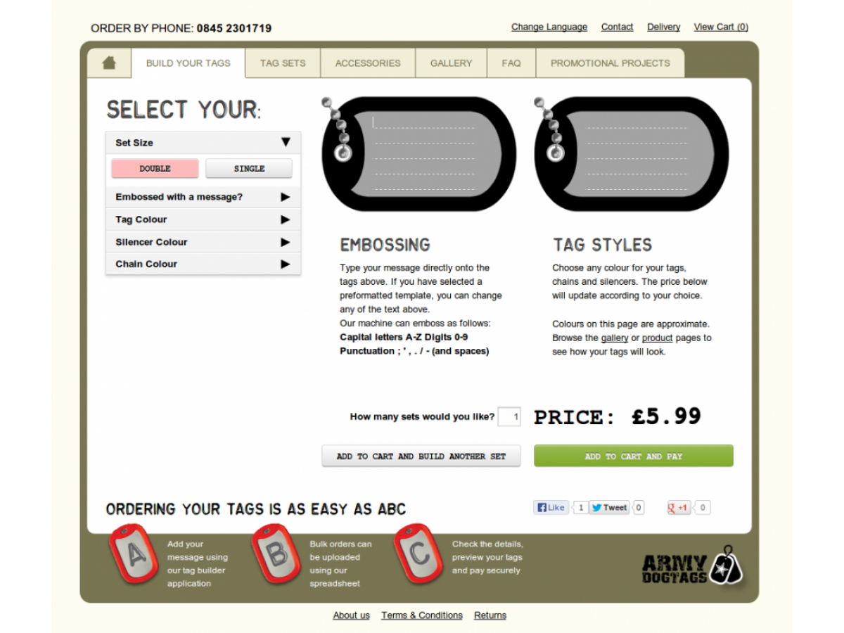 army dog tags custom customise website gloucestershire