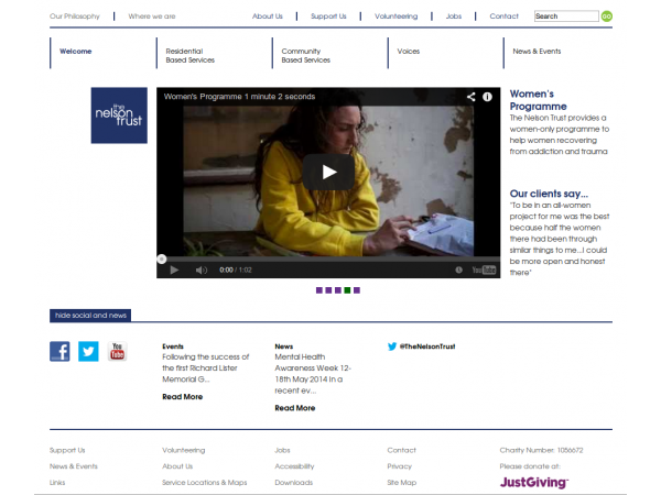 nelsontrust website homepage vide embed gloucestershire
