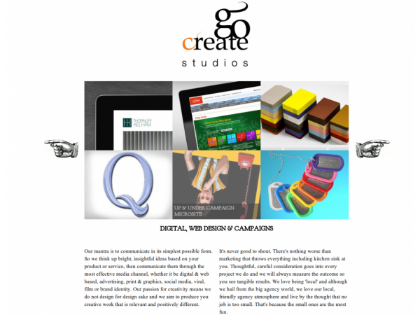 gocreate website single page slider gloucestershire