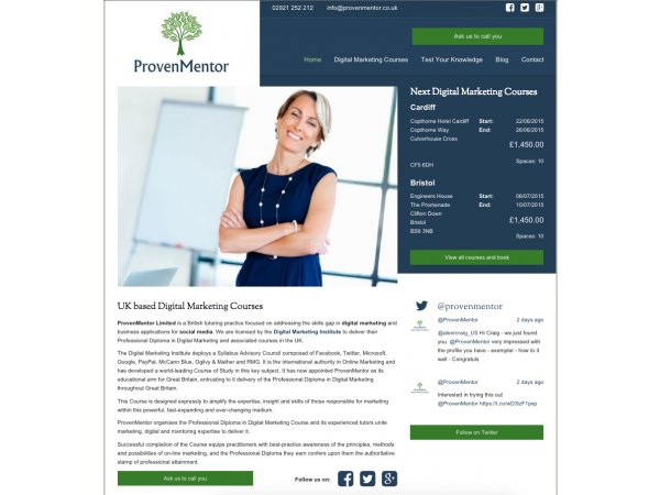 Proven Mentor Home Page